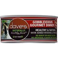 Dave's Pet Food Naturally Healthy Grain-Free Gobbleicious Gourmet Dinner Canned Cat Food, 5.5-oz, case of 24