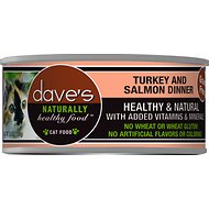 Dave's Pet Food Naturally Healthy Grain-Free Turkey & Salmon Dinner Canned Cat Food, 5.5-oz, case of 24