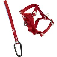 Kurgo Tru-Fit Smart Harness with Steel Nesting Buckles Enhanced Strength, Red, X-Small