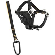 Kurgo Tru-Fit Smart Harness with Steel Nesting Buckles Enhanced Strength, Black, X-Small