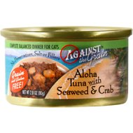 Against the Grain Aloha Tuna with Seaweed & Crab Dinner Canned Cat Food, 2.8-oz, case of 24