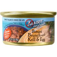 Against the Grain Bimini Brunch with Krill & Egg Dinner Canned Cat Food, 2.8-oz, case of 24