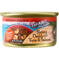 Against the Grain Shrimp Daddy with Tuna & Salmon Dinner Grain-Free Canned Cat Food, 2.8-oz, case of 24