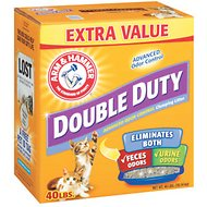 Arm & Hammer Litter Double Duty Clumping Litter, 40-lb box