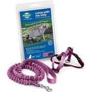 PetSafe Come With Me Kitty Harness & Bungee Cat Leash, Dusty Rose/Burgundy, Medium