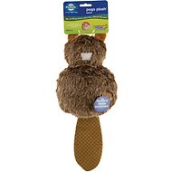 Busy Buddy Pogo Plush Beaver Dog Toy, Large