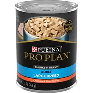 Purina Pro Plan Focus Adult Large Breed Chicken & Rice Entree Chunks in Gravy Canned Dog Food, 13-oz, case of 12