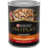 Purina Pro Plan Savor Adult Beef & Vegetables Entree Slices in Gravy Canned Dog Food, 13-oz, case of 12