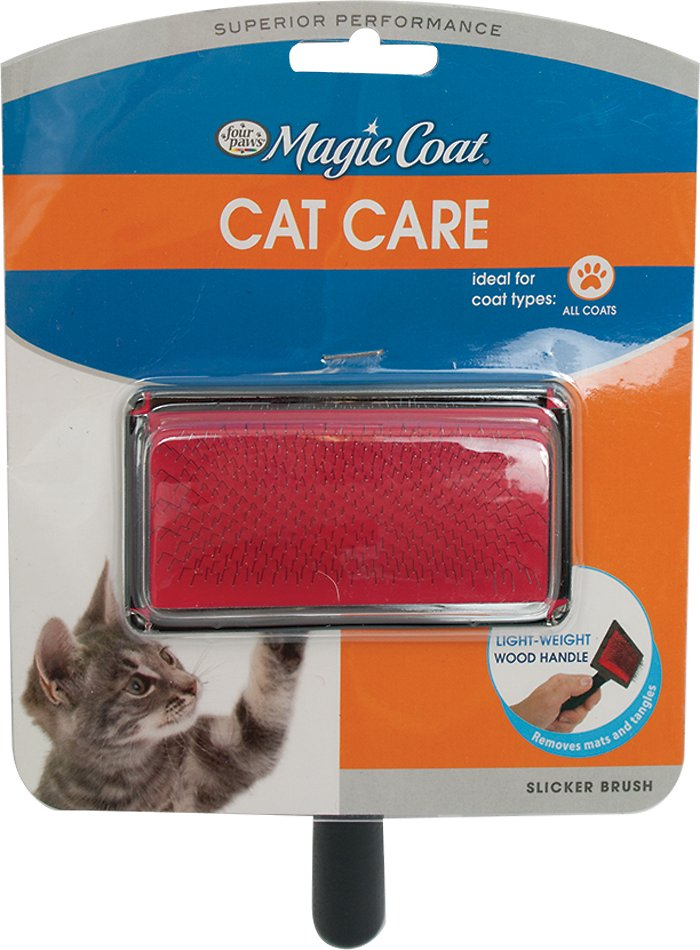 Four Paws Tender Touch Slicker Wire Cat Brush - Chewy.com