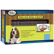 Four Paws Deluxe Double Door Dog Crate, Toy