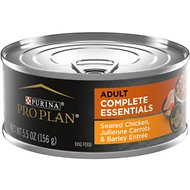Purina Pro Plan Savor Adult Seared Chicken, Julienne Carrots & Barley Entree in Gravy Canned Dog Food, 5.5-oz, case of 24
