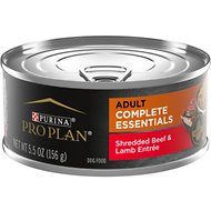 Purina Pro Plan Savor Adult Shredded Beef & Lamb Entree in Gravy Canned Dog Food, 5.5-oz, case of 24