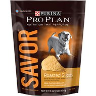Purina Pro Plan Savor Adult Roasted Slices Chicken Breast Dog Treats, 16-oz bag