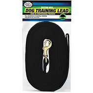 Four Paws Cotton Web Training Dog Lead, Black, 15-ft