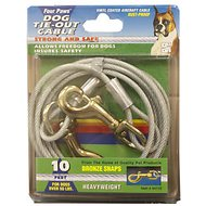 Four Paws Heavy Weight Tie Out Cable, 10-ft