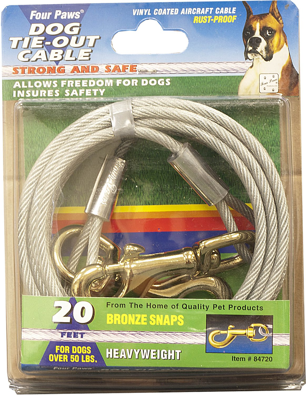 Four Paws Heavy Weight Tie Out Cable 20 Ft Chewy Com