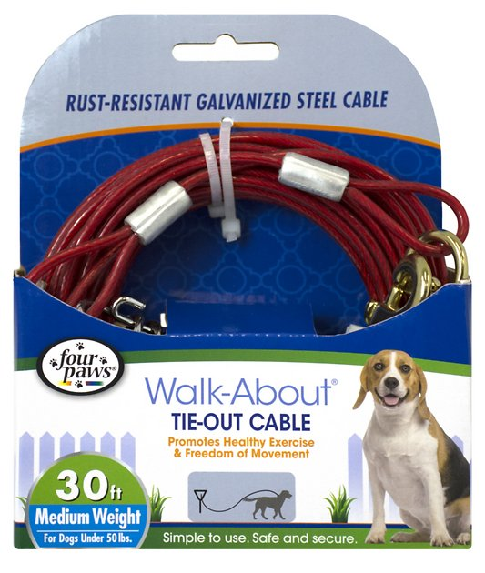 Four Paws Medium Weight Tie Out Cable 30 Ft Chewy Com