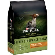 Purina Pro Plan Natural Plus Essential Vitamins & Minerals Chicken & Brown Rice Formula Dry Dog Food, 33-lb bag