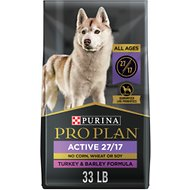 Purina Pro Plan Natural Plus Essential Vitamins & Minerals Turkey & Barley Formula Dry Dog Food, 33-lb bag