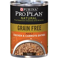 Purina Pro Plan Natural Adult Grain-Free Classic Chicken & Carrots Entree Canned Dog Food, 13-oz, case of 12