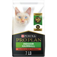 Purina Pro Plan Focus Adult Indoor Care Salmon & Rice Formula Dry Cat Food, 7-lb bag