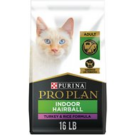 Purina Pro Plan Focus Adult Indoor Care Turkey & Rice Formula Dry Cat Food, 16-lb bag