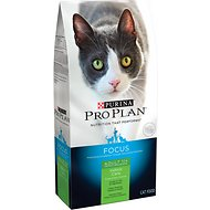 Purina Pro Plan Focus Adult 11+ Indoor Care Turkey & Rice Formula Dry Cat Food, 7-lb bag