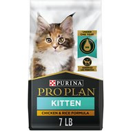Purina Pro Plan Focus Kitten Chicken & Rice Formula Dry Cat Food, 7-lb bag