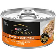 Purina Pro Plan Chicken & Cheese Entree in Gravy Canned Cat Food, 3-oz, case of 24