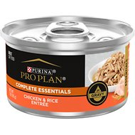 Purina Pro Plan Savor Adult Chicken & Rice Entree in Gravy Canned Cat Food, 3-oz, case of 24