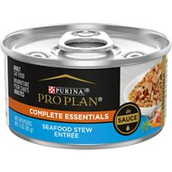 Purina Pro Plan Savor Adult Seafood Stew Entree in Sauce Canned Cat Food, 3-oz, case of 24