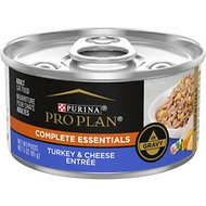 Purina Pro Plan Savor Adult Turkey & Cheese Entree in Gravy Canned Cat Food, 3-oz, case of 24