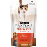 Purina Pro Plan Savor Adult Crunchy Bites with Real Chicken Cat Treats, 2.1-oz bag