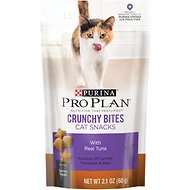 Purina Pro Plan Savor Crunchy Bites with Real Tuna Cat Treats, 2.1-oz bag
