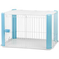 IRIS Pet Wire Play Pen with Mesh Roof, Small, Blue