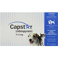 Capstar Flea Tablets for Dogs & Cats 2-25 lbs, 11.4 mg tablet, 6 pack