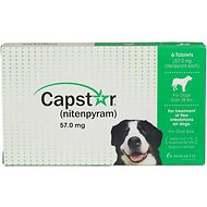 Capstar Flea Tablets for Dogs over 25 lbs, 57 mg tablet, 6 pack