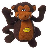 Multipet Deedle Dude Singing Plush Dog Toy, Monkey