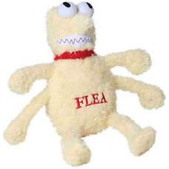 Multipet Flea & Tick Plush Dog Toy, Large Flea