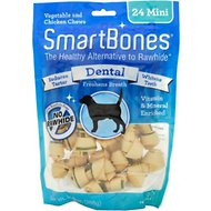 SmartBones Mini Dental Chew Bones Dog Treats, 24 pack