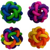 Multipet Nobbly Wobbly Ball Dog Toy, 4-inch