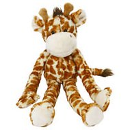 Multipet Swingin' Safari with Extra Long Arms & Legs with Squeakers Plush Dog Toy, Giraffe