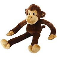 Multipet Swingin' Safari with Extra Long Arms & Legs with Squeakers Plush Dog Toy, Monkey