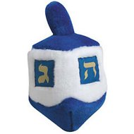 Multipet Musical Hanukkah Dreidel Plush Dog Toy, 6.5-inch long