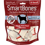 SmartBones Small Chicken Chew Bones Dog Treats, 6 pack