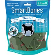 SmartBones Small Dental Chew Bones Dog Treats, 6 pack