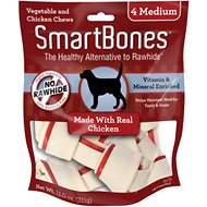 SmartBones Medium Chicken Chew Bones Dog Treats, 4 pack
