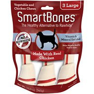 SmartBones Large Chicken Chew Bones Dog Treats, 3 pack