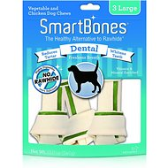 SmartBones Large Dental Chew Bones Dog Treats, 3 pack