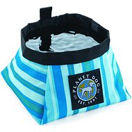 Planet Dog On the Go Food & Water Travel Dog Bowl, Seaside Blue, Small